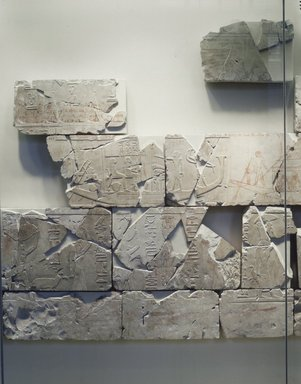 Relief Blocks from the Tomb of the Vizier Nespeqashuty, ca. 664-610 B.C.E. Limestone, 40 9/16 x 63 3/8 in. (103 x 161 cm). Brooklyn Museum, Charles Edwin Wilbour Fund, 52.131.1a-i. Creative Commons-BY