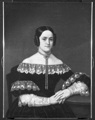 Portrait of Doña María de Cervantes Ozta y de Velasco, ca. 1835. Oil on canvas, 32 1/4 x 24 9/16 in. (81.9 x 62.4 cm). Brooklyn Museum, Museum Collection Fund and Dick S. Ramsay Fund, 52.166.10