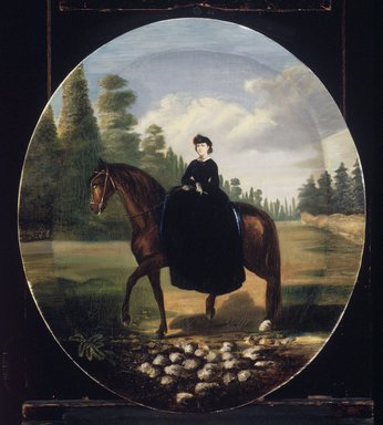 Attributed to follower of Édouard Pingret (French, 1788-1875). Portrait of Doña María Josefa Romero de Terreros y Gómez de Parada, ca. 1865. Oil on canvas, Oval:  22 x 18 1/4 in.  (55.9 x 46.4 cm). Brooklyn Museum, Museum Collection Fund and Dick S. Ramsay Fund, 52.166.16