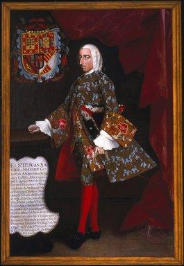 Miguel Cabrera (Mexican, 1695-1768). Don Juan Xavier Joachín Gutiérrez Altamirano Velasco, Count of Santiago de Calimaya, ca. 1752. Oil on canvas, 81 5/16 x 53 1/2 in. (206.5 x 135.9 cm). Brooklyn Museum, Museum Collection Fund and Dick S. Ramsay Fund, 52.166.1
