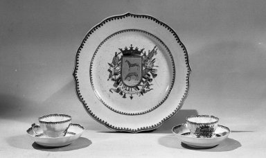 Plate, ca. 1770. Porcelain, 8 7/8 in. Brooklyn Museum, Museum Collection Fund and Dick S. Ramsay Fund, 52.166.36. Creative Commons-BY