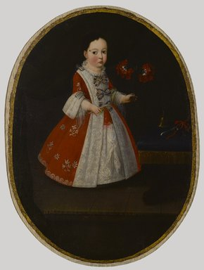 Attributed to Nicolás Enríquez (Mexican, active 1730-1768). Doña María de la Luz Padilla y Gómez de Cervantes, ca. 1735. Oil on canvas, Oval: 35 3/8 x 26 in. (89.9 x 66 cm). Brooklyn Museum, Museum Collection Fund and Dick S. Ramsay Fund, 52.166.3