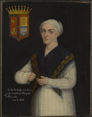 Mexican. Doña Josefa de la Cotera y Calvo de la Puerta, 1816. Oil on canvas, 33 x 25 1/2 in. (83.8 x 64.8 cm). Brooklyn Museum, Museum Collection Fund and Dick S. Ramsay Fund, 52.166.5