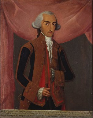 Mexican. Don Ignacio Leonel Gómez Cervantes, 1788. Oil on canvas, 40 1/2 x 32 1/2in. (102.9 x 82.6cm). Brooklyn Museum, Museum Collection Fund and Dick S. Ramsay Fund, 52.166.6