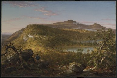 Thomas Cole (American, 1801-1848). A View of the Two Lakes and Mountain House, Catskill Mountains, Morning, 1844. Oil on canvas, 35 13/16 x 53 7/8 in. (91 x 136.9 cm). Brooklyn Museum, Dick S. Ramsay Fund, 52.16