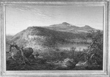 Brooklyn Museum: A View of the Two Lakes and Mountain House, Catskill Mountains, Morning