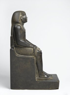Senwosret III, ca. 1836-1818 B.C.E. Granite, 21 7/16 x 7 1/2 x 13 11/16 in. (54.5 x 19 x 34.7 cm). Brooklyn Museum, Charles Edwin Wilbour Fund, 52.1. Creative Commons-BY