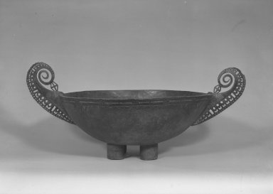 Matankor. Food Bowl, 19th century. Wood, parinarium nut paste, 23 x 56 1/2 x 36 3/4 in. (58.4 x 143.5 x 93.3 cm). Brooklyn Museum, A. Augustus Healy Fund and Museum Collection Fund, 52.52. Creative Commons-BY