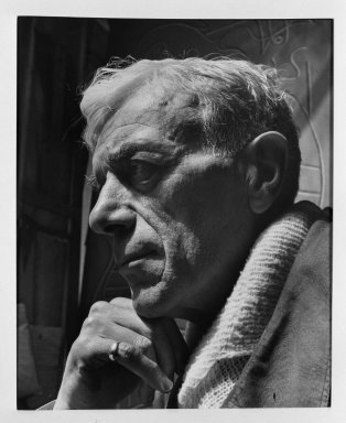 Fritz Henle (American, 1909-1993). Georges Braque. Photograph Brooklyn Museum, Gift of the artist, 53.13.4. © Estate of Fritz Henle