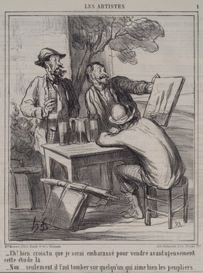 Honoré Daumier (French, 1808-1879). Eh! Bien Crois-Tu...les Peupliers., January 19, 1865. Lithograph on newsprint, Sheet: 17 x 11 11/16 in. (43.2 x 29.7 cm). Brooklyn Museum, A. Augustus Healy Fund, 53.166.11