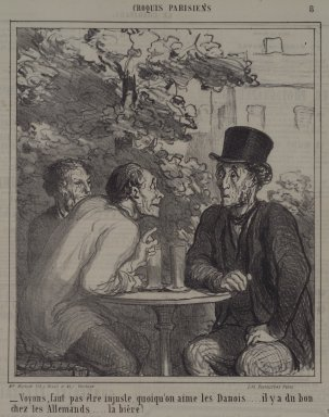 Honoré Daumier (French, 1808-1879). Voyons, Faut Pas Être Injuste..., May 12, 1864. Lithograph on newsprint, Sheet: 11 1/2 x 10 1/16 in. (29.2 x 25.6 cm). Brooklyn Museum, A. Augustus Healy Fund, 53.166.25