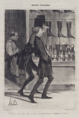 Honoré Daumier (French, 1808-1879). Ces Messieurs Pour Aller Diner En Ville..., November 26, 1839. Lithograph on newsprint, Sheet: 14 7/8 x 10 1/4 in. (37.8 x 26 cm). Brooklyn Museum, A. Augustus Healy Fund, 53.166.9