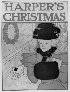 Edward Penfield (American, 1866-1925). Harper's Poster - Christmas, December 1896, 1896. Lithograph on wove paper, 17 1/4 x 12 7/8 in. (43.8 x 32.7 cm). Brooklyn Museum, Dick S. Ramsay Fund, 53.167.13