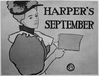 Edward Penfield (American, 1866-1925). Harper's Poster - September 1896, 1896. Lithograph on wove paper, Sheet: 13 9/16 x 18 1/4 in. (34.4 x 46.4 cm). Brooklyn Museum, Dick S. Ramsay Fund, 53.167.1