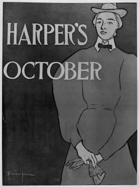 Edward Penfield (American, 1866-1925). Harper's Poster, ca. 1894-1898. Lithograph on wove paper, Sheet: 18 1/4 x 12 in. (46.4 x 30.5 cm). Brooklyn Museum, Dick S. Ramsay Fund, 53.167.27