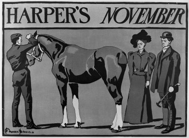 Edward Penfield (American, 1866-1925). Harper's Poster, ca. 1894-1898. Lithograph on wove paper, Sheet: 14 3/16 x 19 5/16 in. (36.1 x 49.1 cm). Brooklyn Museum, Dick S. Ramsay Fund, 53.167.30