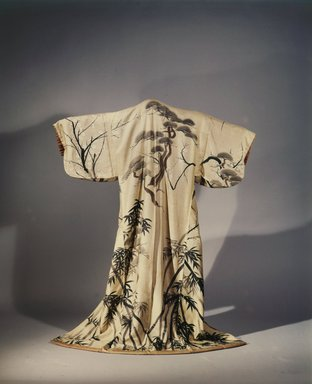 No Robe, 19th century. Silk, 48 1/2 x 62 in. (123.2 x 157.5 cm). Brooklyn Museum, Gift of the Hammer Foundation, 53.181. Creative Commons-BY