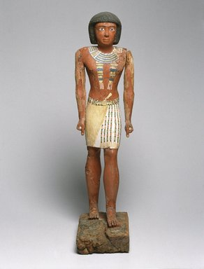 Statue of Metjetji, ca. 2371-2288 B.C.E. Wood, painted, 27 9/16 in. (70 cm). Brooklyn Museum, Charles Edwin Wilbour Fund, 53.222. Creative Commons-BY
