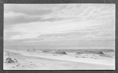 Brooklyn Museum: Beach Scene with Barrel and Anchor