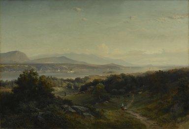 Johann Hermann Carmiencke (American, born Denmark, 1810-1867). Landscape, Hyde Park, New York, 1859. Oil on canvas, 33 1/8 x 48 1/4 in. (84.2 x 122.5 cm). Brooklyn Museum, Dick S. Ramsay Fund, 53.23