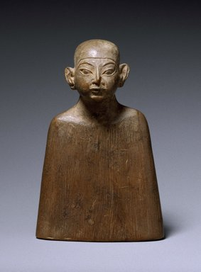 Miniature Bust, ca. 1336-1327 B.C.E., ca. 1327-1323 B.C.E., or ca. 1323-1295 B.C.E. Wood, 3 1/16 x 2 1/16 in. (7.8 x 5.3 cm). Brooklyn Museum, Charles Edwin Wilbour Fund, 53.246. Creative Commons-BY
