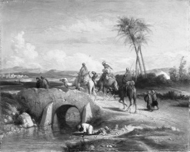 Étienne Billet (French, 1821-1888). Arabian Scene, n.d. Oil on canvas, 13 1/4 x 16 1/2 in. (33.7 x 41.9 cm). Brooklyn Museum, Bequest of Annie H. Halsted, 53.53