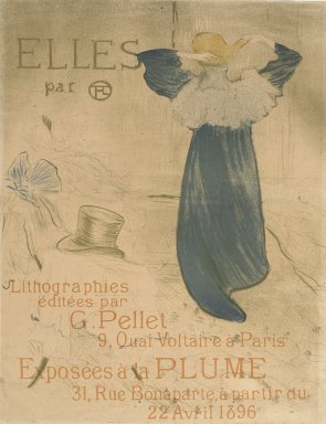 Henri de Toulouse-Lautrec (French, 1864-1901). Elles, 1896. Lithograph on thin wove paper, 24 7/16 x 18 9/16 in. (62.1 x 47.1 cm). Brooklyn Museum, Gift of Millicent Huttleston Rogers, 53.8.1