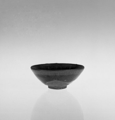 Bowl, 1127-1279. High-fired ware with black glaze, 1 1/2 x 3 11/16 in. (3.8 x 9.4 cm). Brooklyn Museum, Gift of David James in memory of his brother, William James, 54.10.5. Creative Commons-BY