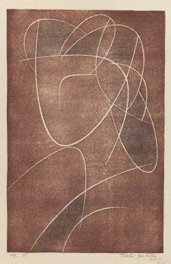 Yoshida Toshi (Japanese, born 1911). Head of a Woman, 1952. Woodblock print on paper, 14 9/16 x 9 7/16 in. (37 x 24 cm). Brooklyn Museum, Henry L. Batterman Fund, 54.111. © Estate of Yoshida Toshi
