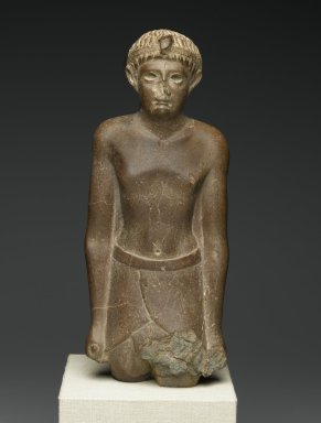 Ptolemaic Prince, 50-30 B.C.E. Quartzite, 12 1/2 x 5 5/16 x 3 3/8 in. (31.8 x 13.5 x 8.5 cm). Brooklyn Museum, Charles Edwin Wilbour Fund, 54.117. Creative Commons-BY