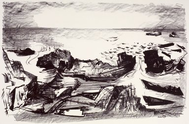 Martyl Langsdorf (American, 1917-2013). Coast of Maine, 1954. Lithograph, Sheet: 18 7/8 x 24 7/8 in. (47.9 x 63.2 cm). Brooklyn Museum, Gift of Artists Equity, Chicago Chapter, 54.153.8. © Estate of Martyl Langsdorf