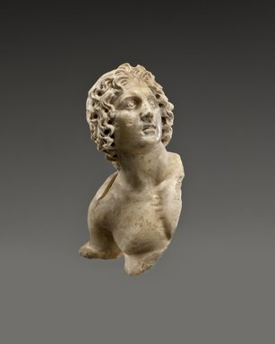 Alexander the Great, 100 B.C.E. – 100 C.E. Marble, 3 1/2 x 2 x 1 1/2 in. (8.9 x 5.1 x 3.8 cm). Brooklyn Museum, Charles Edwin Wilbour Fund, 54.162. Creative Commons-BY