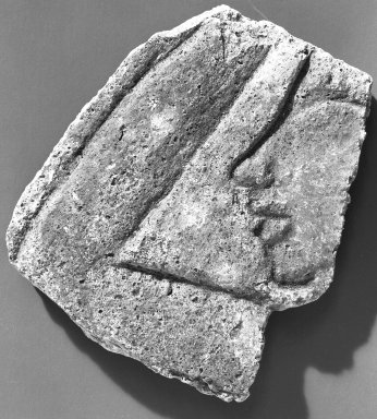 Fragment of Relief, ca. 1352-1336 B.C.E. Gypsum plaster, painted, 3 9/16 x 3 1/8 in. (9.1 x 8 cm). Brooklyn Museum, Charles Edwin Wilbour Fund, 54.188.2. Creative Commons-BY