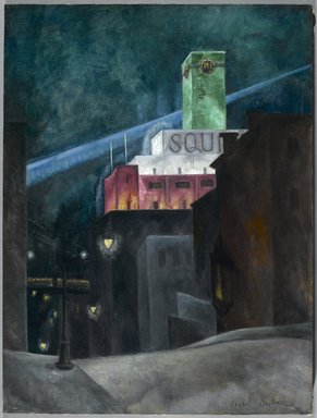 Isabel Lydia Whitney (American, 1884-1962). The Emerald Tower, 1927-1928. Oil on canvas, 24 x 18 in. (61 x 45.7 cm). Brooklyn Museum, Gift of Mrs. James H. Hayes, 54.18