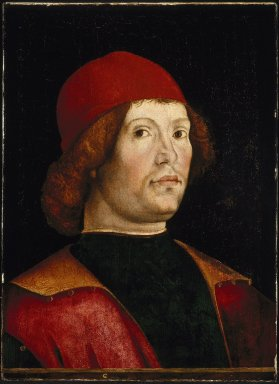 Lorenzo Costa (Italian, Ferrarese, 1460-1535). Portrait of a Man, late 15th century. Tempera and oil on poplar panel, 18 7/8 x 13 in. (47.9 x 33 cm). Brooklyn Museum, Gift of Mrs. Watson B. Dickerman, 54.193