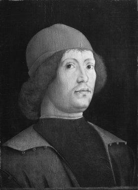 Lorenzo Costa (Italian, Ferrarese, 1460-1535). Portrait of a Man, late 15th century. Tempera and oil on poplar panel, 18 7/8 x 13 in. (47.9 x 33 cm). Brooklyn Museum, Gift of Mrs. Watson B. Dickerman, 54.193