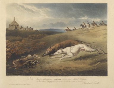Nichols and Bluck. Coursing. Engraving Brooklyn Museum, Gift of Harry W. Havemeyer, 54.34.7