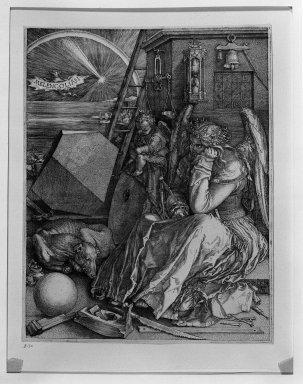 Albrecht Dürer (German, 1471-1528). Melencolia I, 1514. Engraving on fine laid paper, 9 9/16 x 7 1/2 in. (24.3 x 19 cm). Brooklyn Museum, Gift of Mrs. Horace O. Havemeyer, 54.35.8