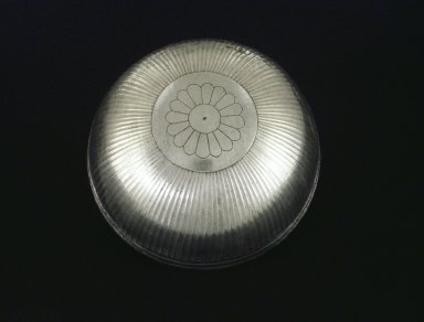 Bowl with Floral Decoration, ca. 410 B.C.E. Silver, 3 1/8 x Diam. 7 3/16 in. (8 x 18.3 cm). Brooklyn Museum, Charles Edwin Wilbour Fund, 54.50.35. Creative Commons-BY