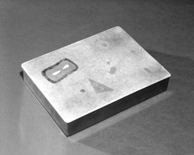 Flavio Poli. Cigarette Box, ca. 1949. Brass and enamel, 1 x 4 1/4 x 5 7/8 in. (2.5 x 10.8 x 14.9 cm). Brooklyn Museum, Gift of the Italian Government, 54.64.10. Creative Commons-BY