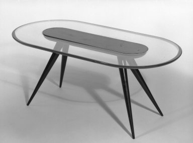 Fontana Arte Fontana, Luigi. Coffee Table, late 1940s. Glass and rosewood(?), 15 x 38 1/2 x 19 3/4 in. (38.1 x 97.8 x 50.2 cm). Brooklyn Museum, Gift of the Italian Government, 54.64.230. Creative Commons-BY