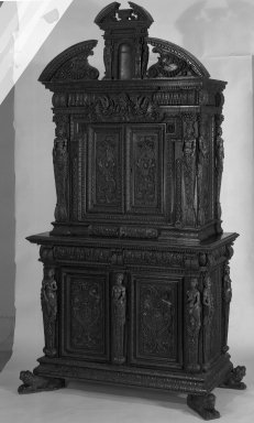 Renaissance Burgundian Cabinet, 16th century. Walnut, 103 x 58 x 25 1/2 in. (261.6 x 147.3 x 64.8 cm). Brooklyn Museum, Gift of Mrs. J. Fuller Feder, 54.75. Creative Commons-BY