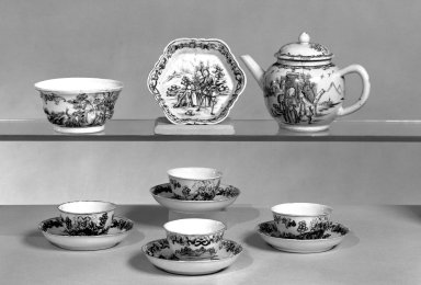 Part of Teaset, ca. 1750. Porcelain, Cups: 1 3/4 x 2 7/8 in. (4.4 x 7.3 cm). Brooklyn Museum, Museum Collection Fund and Dick S. Ramsay Fund, 55.103.4d. Creative Commons-BY