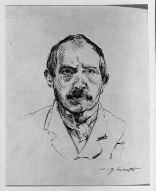 Lovis Corinth (German, 1858-1925). Self-Portrait (Selbstbildnis), 1916. Lithograph on wove paper, Image: 6 1/2 x 5 1/2 in. (16.5 x 14 cm). Brooklyn Museum, Gift of Benjamin Weiss, 55.113.12