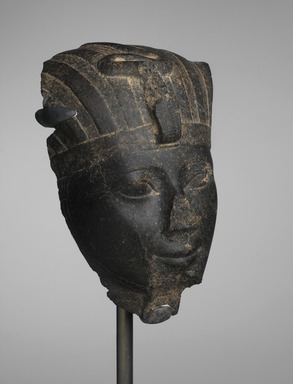 Head of Hatshepsut or Thutmose III, ca. 1479-1425 B.C.E. Granite, Height: 10 3/8 in. (26.3 cm). Brooklyn Museum, Charles Edwin Wilbour Fund, 55.118. Creative Commons-BY