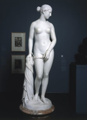 Hiram S. Powers (American, 1805-1873). The Greek Slave, 1869. Marble, Statue: 65 1/2 x 19 1/4 x 18 3/4 in. (166.4 x 48.9 x 47.6 cm). Brooklyn Museum, Gift of Charles F. Bound, 55.14. Creative Commons-BY