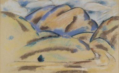Marsden Hartley (American, 1877-1943). Landscape, New Mexico, ca. 1918. Pastel on paper, 17 1/8 x 27 7/16 in. (43.5 x 69.7 cm). Brooklyn Museum, Gift of Mrs. Albert Hackett, 55.159