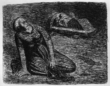 Ernst Barlach (German, 1870-1938). The Bloodstains 2 (Der Blutflecken 2), 1912. Lithograph on wove buff paper, Image: 7 15/16 x 10 1/16 in. (20.2 x 25.6 cm). Brooklyn Museum, Gift of Dr. F.H. Hirschland, 55.165.105