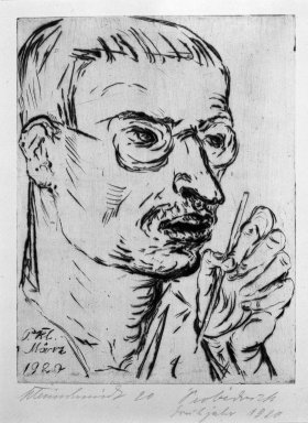Paul Kleinschmidt (German, 1883-1949). Self-Portrait (Selbstbildnis), March 1920. Drypoint on laid paper, Sheet: 12 1/4 x 9 15/16 in. (31.1 x 25.2 cm). Brooklyn Museum, Gift of Dr. F.H. Hirschland, 55.165.51