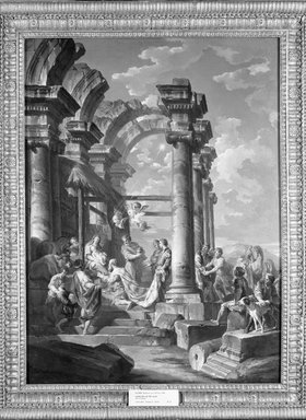 Giovanni Paolo Panini (Italian, 1691-1765). Adoration of the Magi, ca. 1755. Oil on canvas, 39 x 29 in. (99.1 x 73.7 cm). Brooklyn Museum, Gift of Mrs. Thomas F. Walsh, 55.19